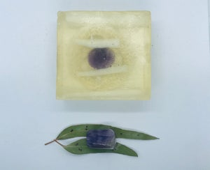 Amethyst Soap with Loofah
