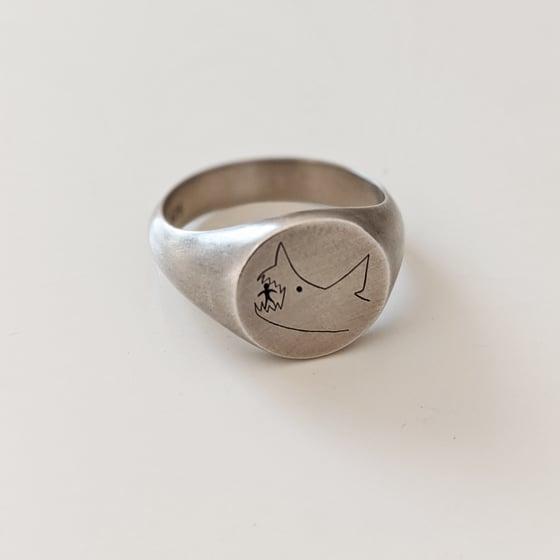 Image of Oxidised Jaws Ring