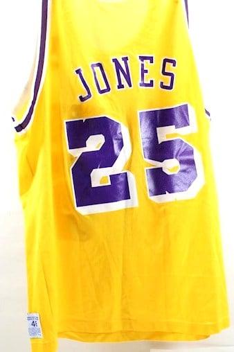 "Image of Champion NBA Los Angeles Lakers ""Eddie Jones"" Jersey Sz 48"