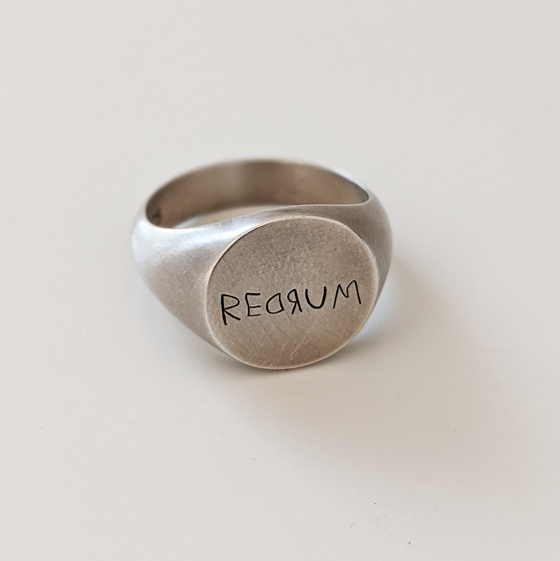Image of Oxidised Redrum Ring
