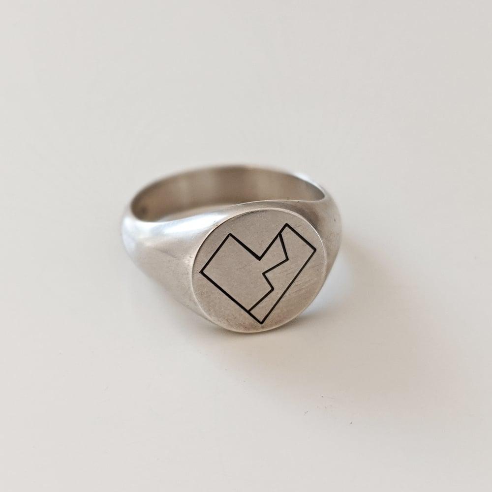 Image of Oxidised Heartthrob Pt 2 Ring
