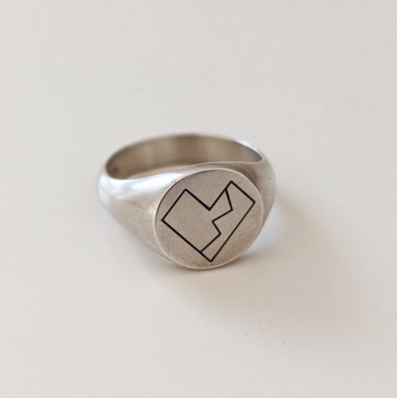 Image of Oxidised Heartthrob Pt 2 Ring