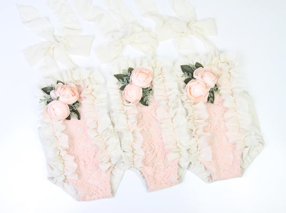 Image of Sitter Romper with Blush Blooms