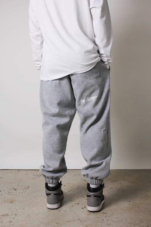Image of Signature Sweatpants in Heather Grey
