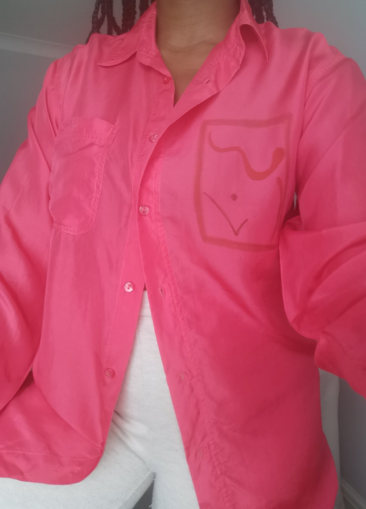 Image of flo pink blouse