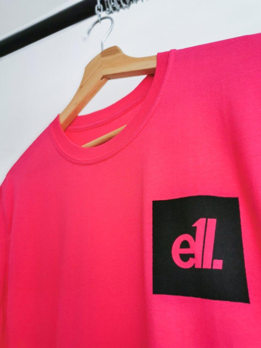 Image of NEW Hot pink / black square E11 logo