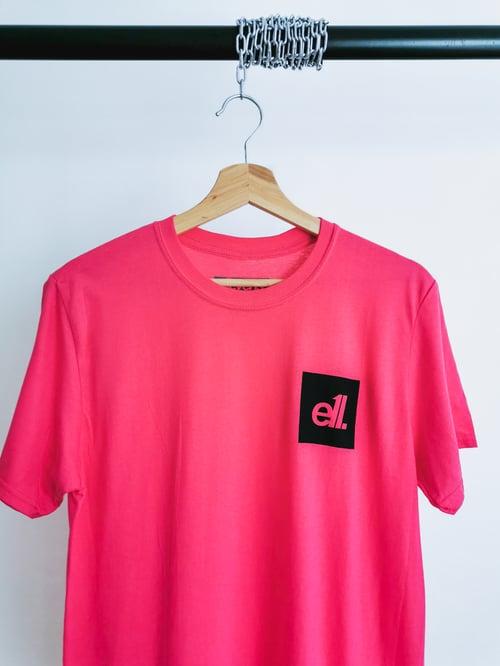 Image of Hot pink / black square E11 logo