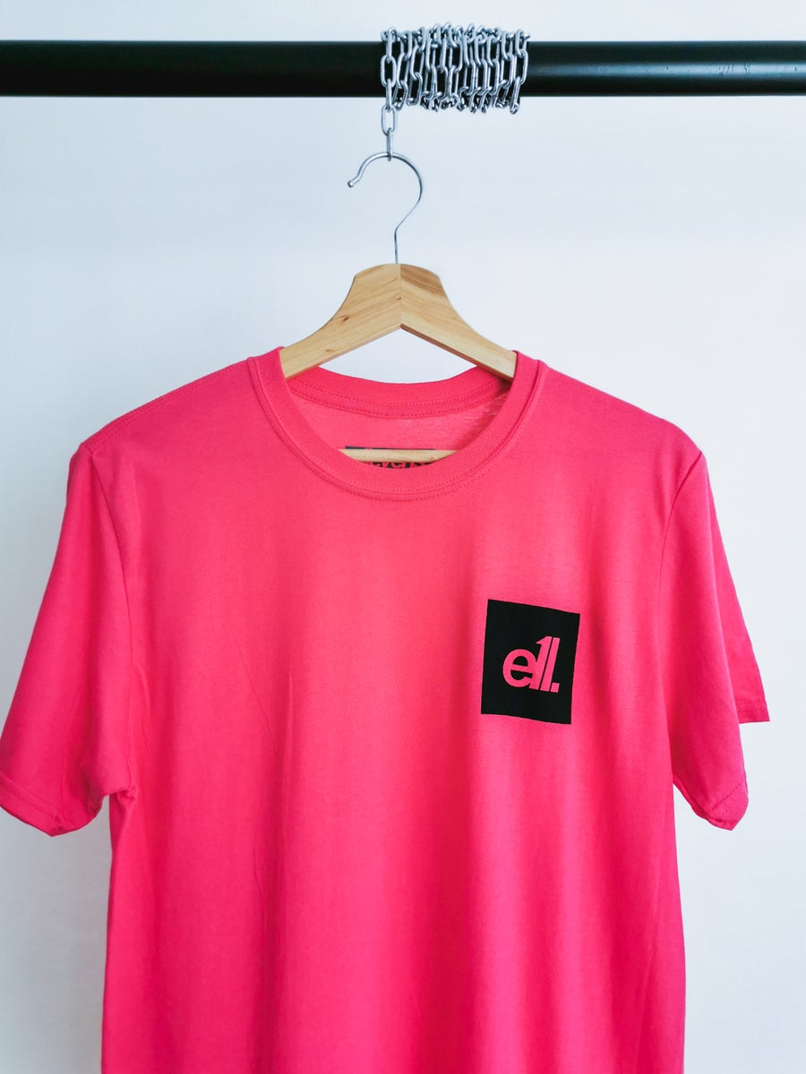 Image of NEW Hot pink / black square E11 logo