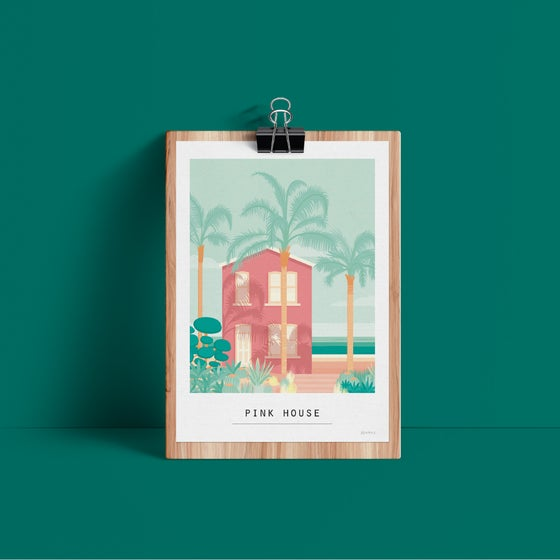 Image of ILLUSTRATION LIMITEE  - Pink House