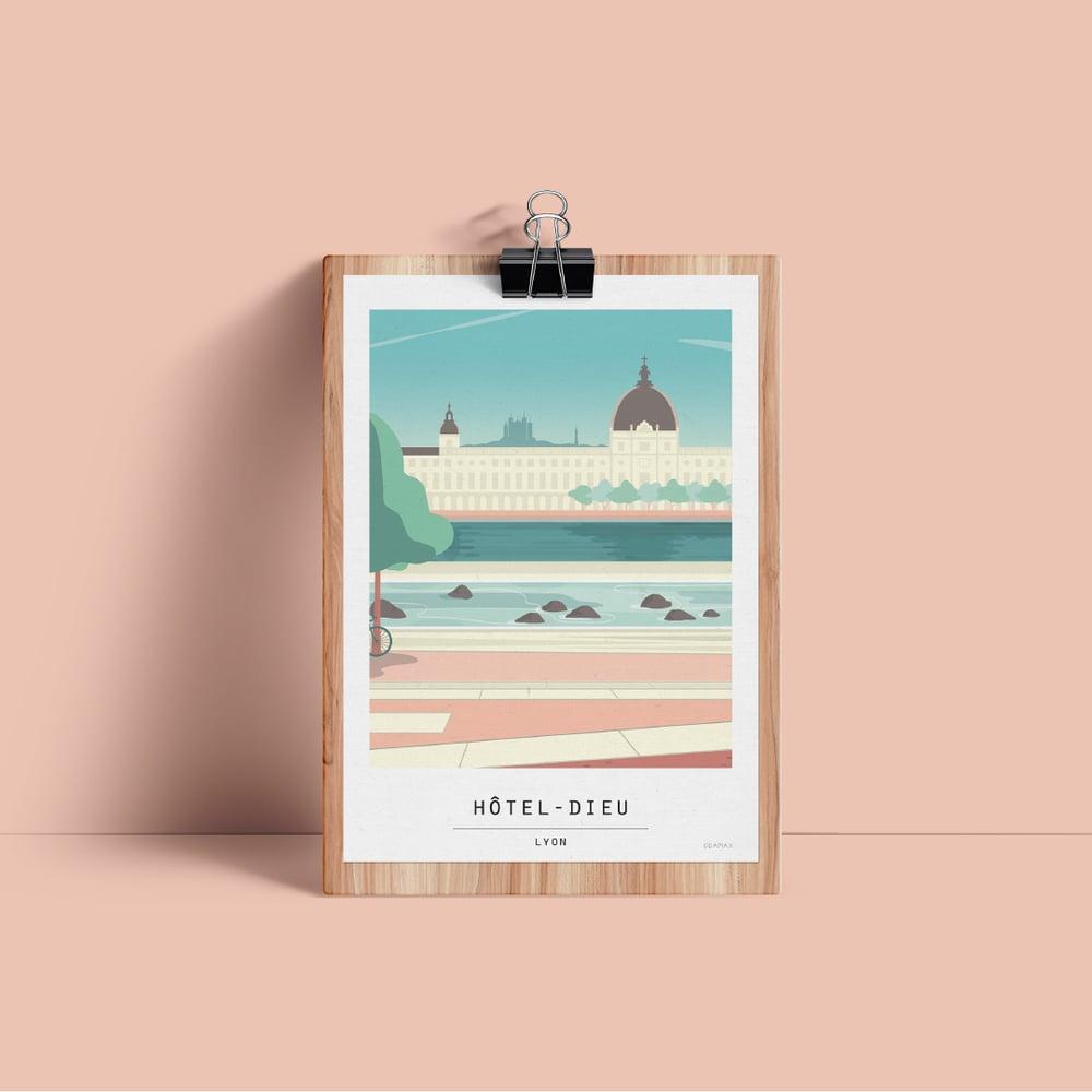Image of ILLUSTRATION LIMITEE - Hotel dieu Jour
