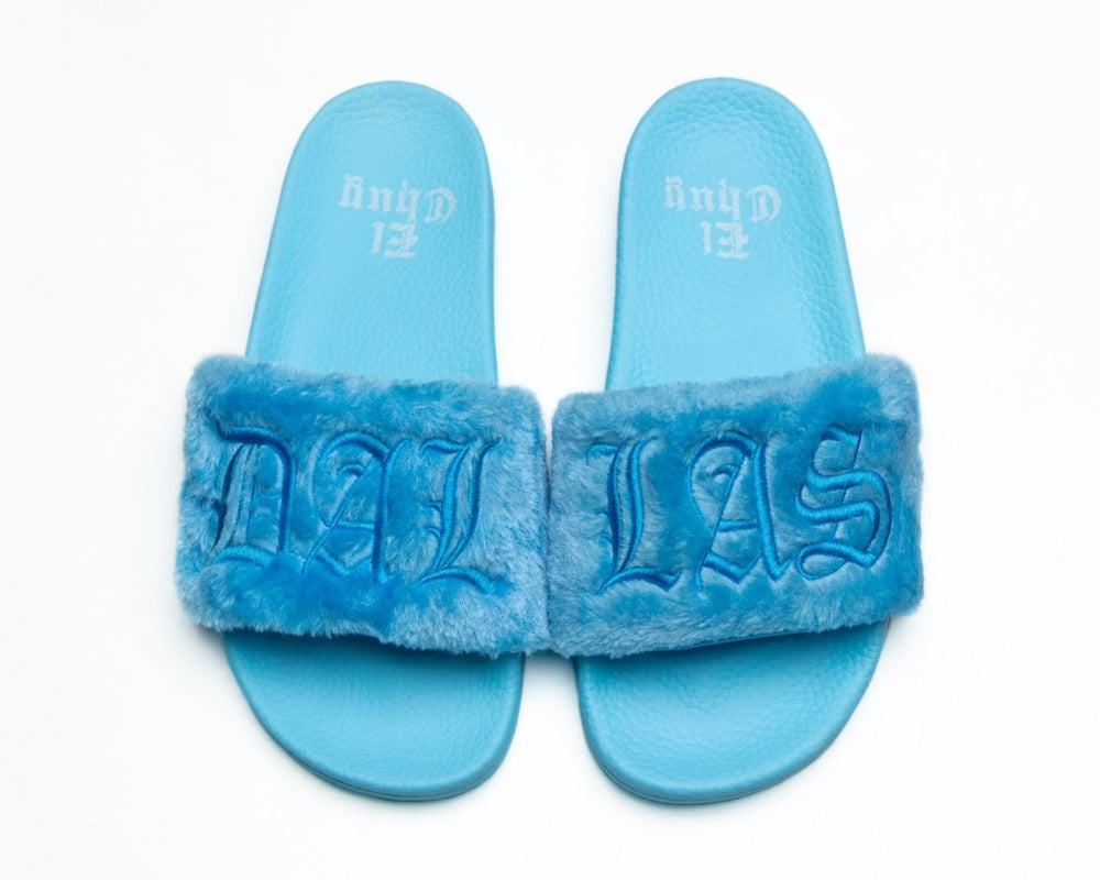 Image of  BLUE RASBERRY COTTON CANDY SLIDES (NOW SHIPPING )