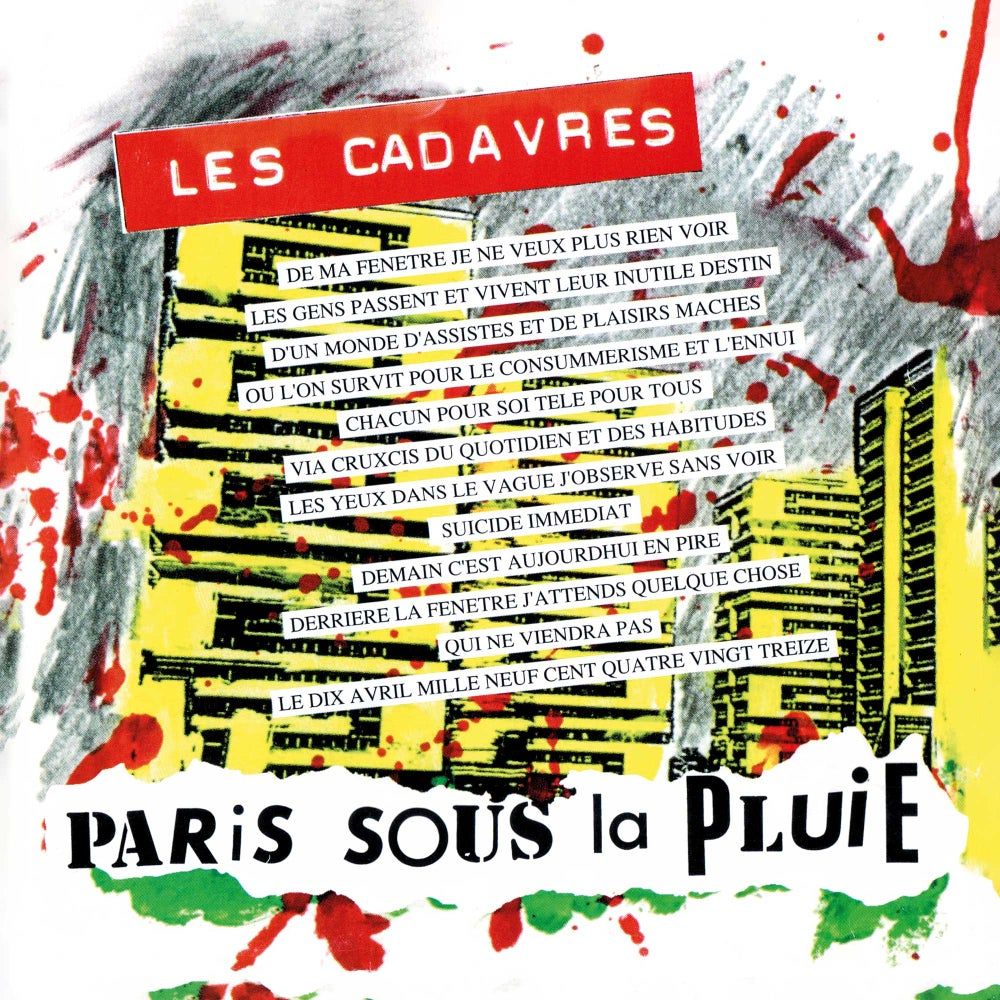 """LES CADAVRES """"Paris Sous La Pluie"""" CD (réédition 2020)"""
