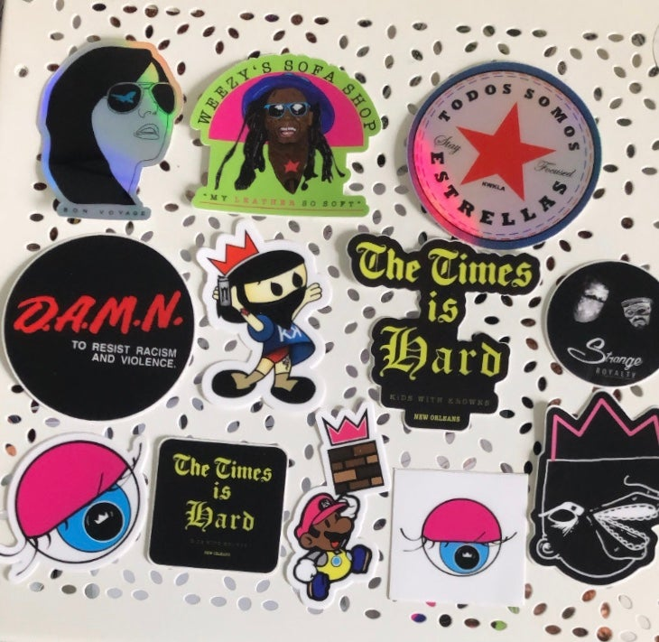 Image of Buttons & Patches & Stickers, oh my!