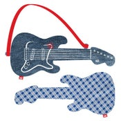 "Image of electric guitar ""blue check"""