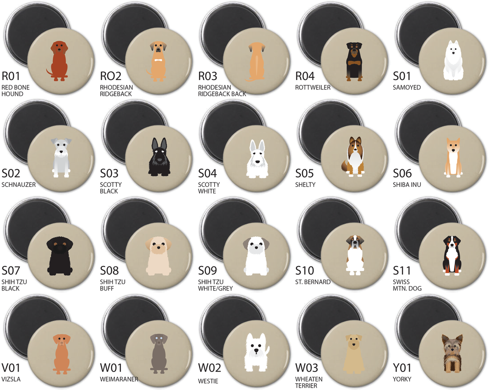 Simply Dogs Magnet Sets 0-Y Breeds