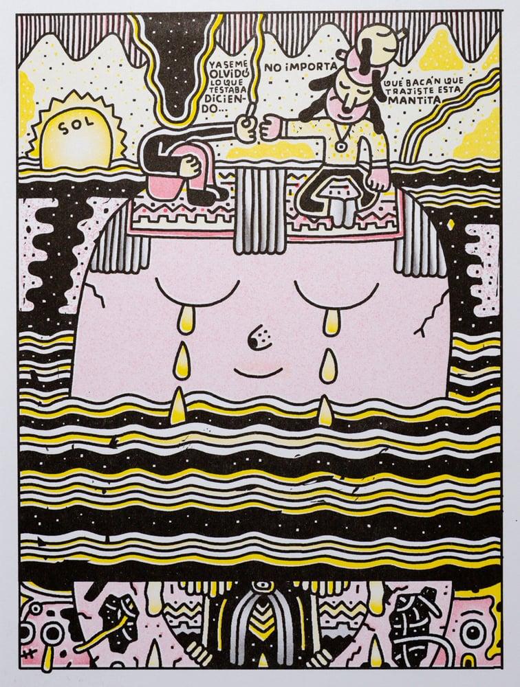 """Image of """"Perros fumando sobre un cerro"""" Pablo del Cielo"""