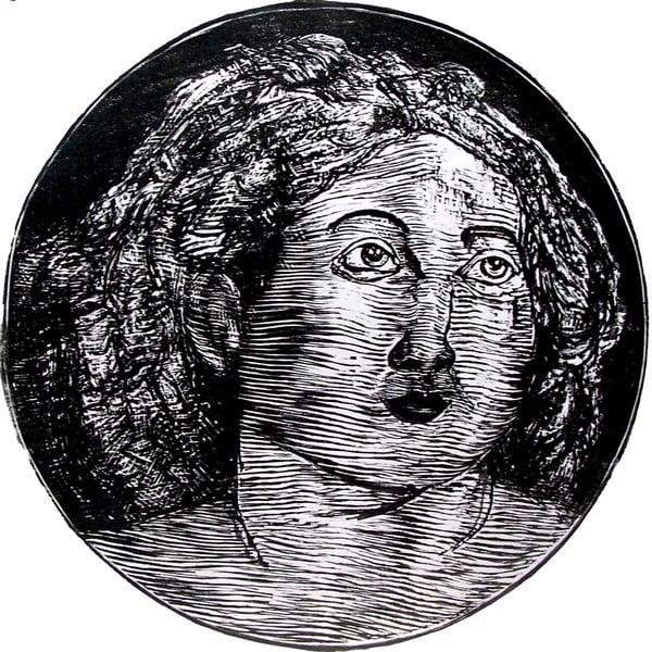 "Image of ""Lucrezia"", linocut T 1/100"
