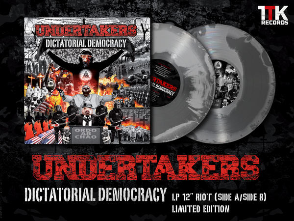 "Image of Undertakers ""Dictatorial democracy"" LP 12"" RIOT ONLY FOR FIRST 40  COPIES A SPECIAL GADGET """