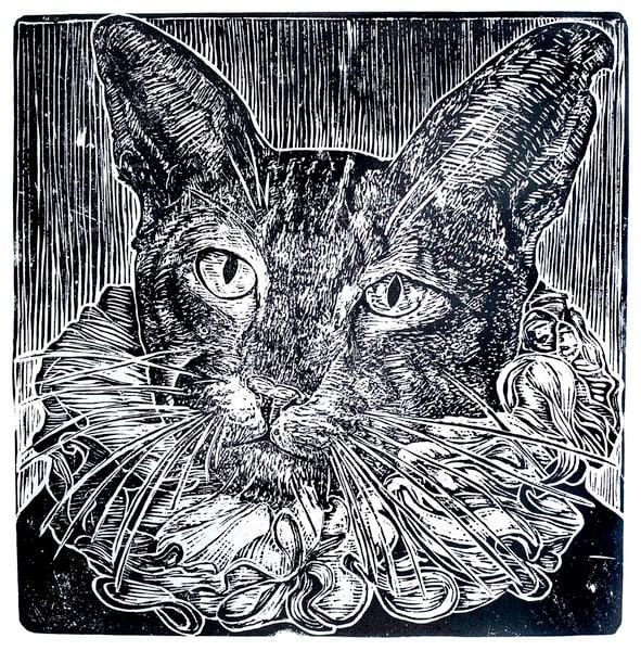 """Image of """"Il Gatto di Velazquez"""", digital print. T 1/100"""