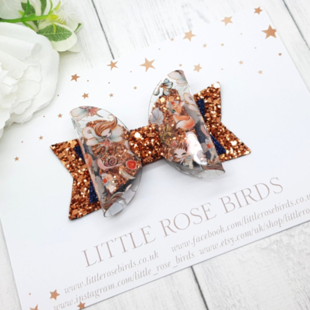 Image of Autumn Fairy Bow - Choice of Headband or Clip