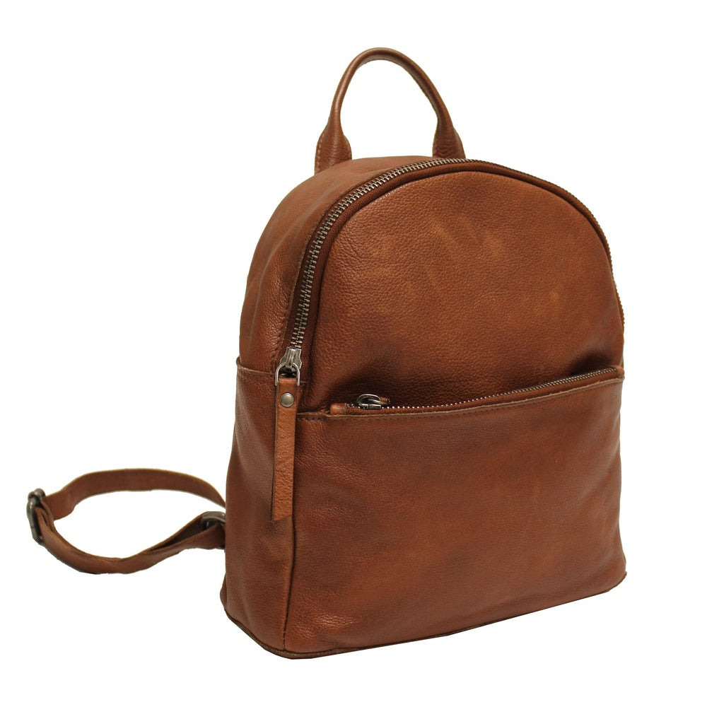 Image of Gregg Leather Backpack - Cognac