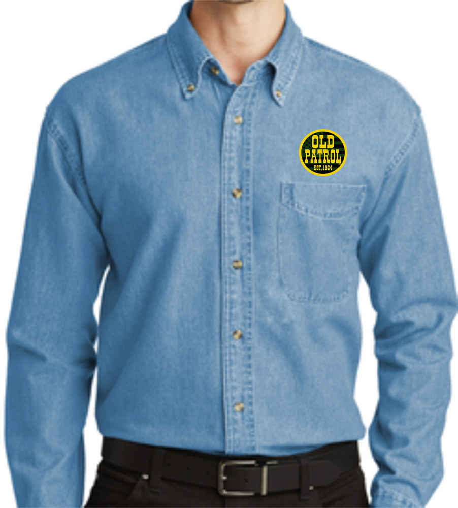 Image of DENIM OLD PATROL LONG SLEEVE SHIRTS (THREE STYLES)