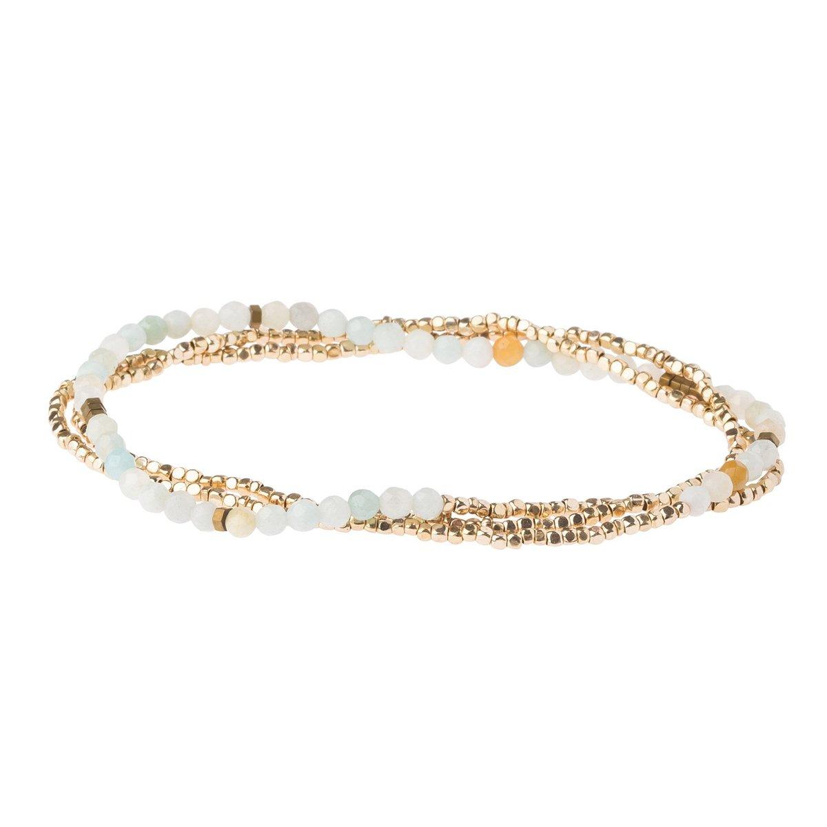 Image of Delicate Amazonite Wrap Bracelet/Necklace