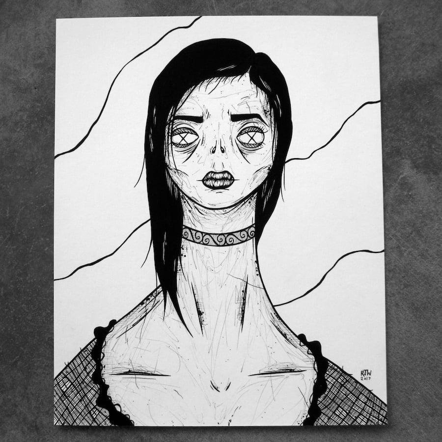 Image of Ghoul Girl I. - original art