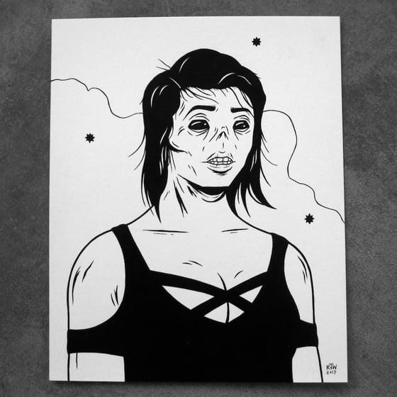 Image of Ghoul Girl II. - original art