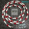 Waistbead_ Red & White