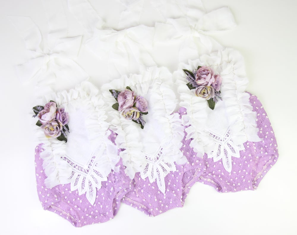 Image of Sitter Romper with Blooms - a