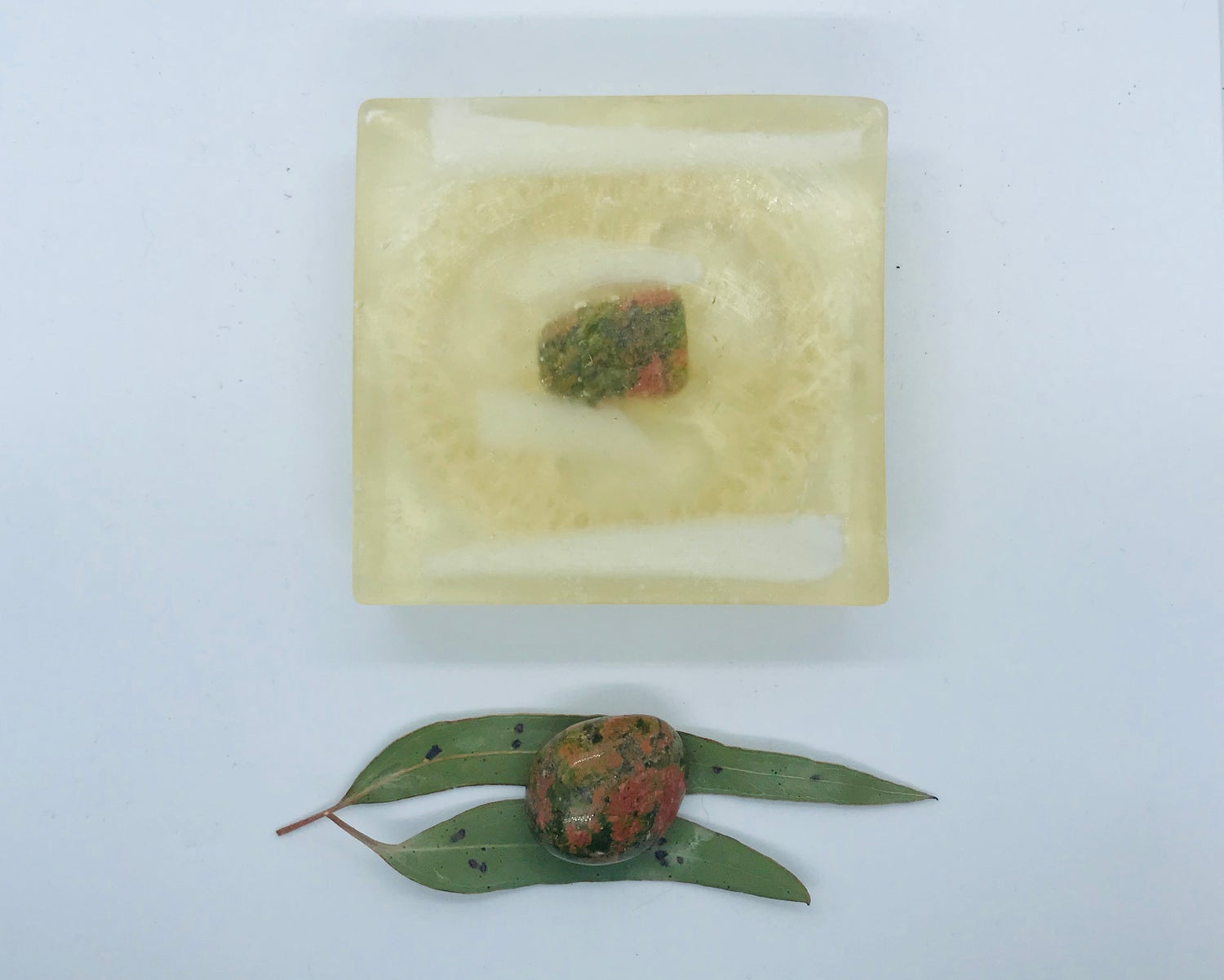 Unakite Soap with Loofah