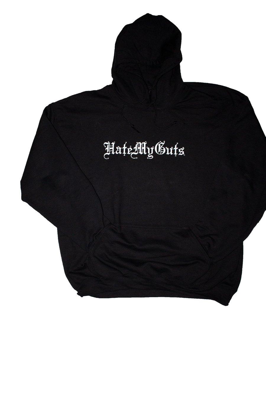 """Image of HateMyGuts """"crystal"""" script hoodie"""