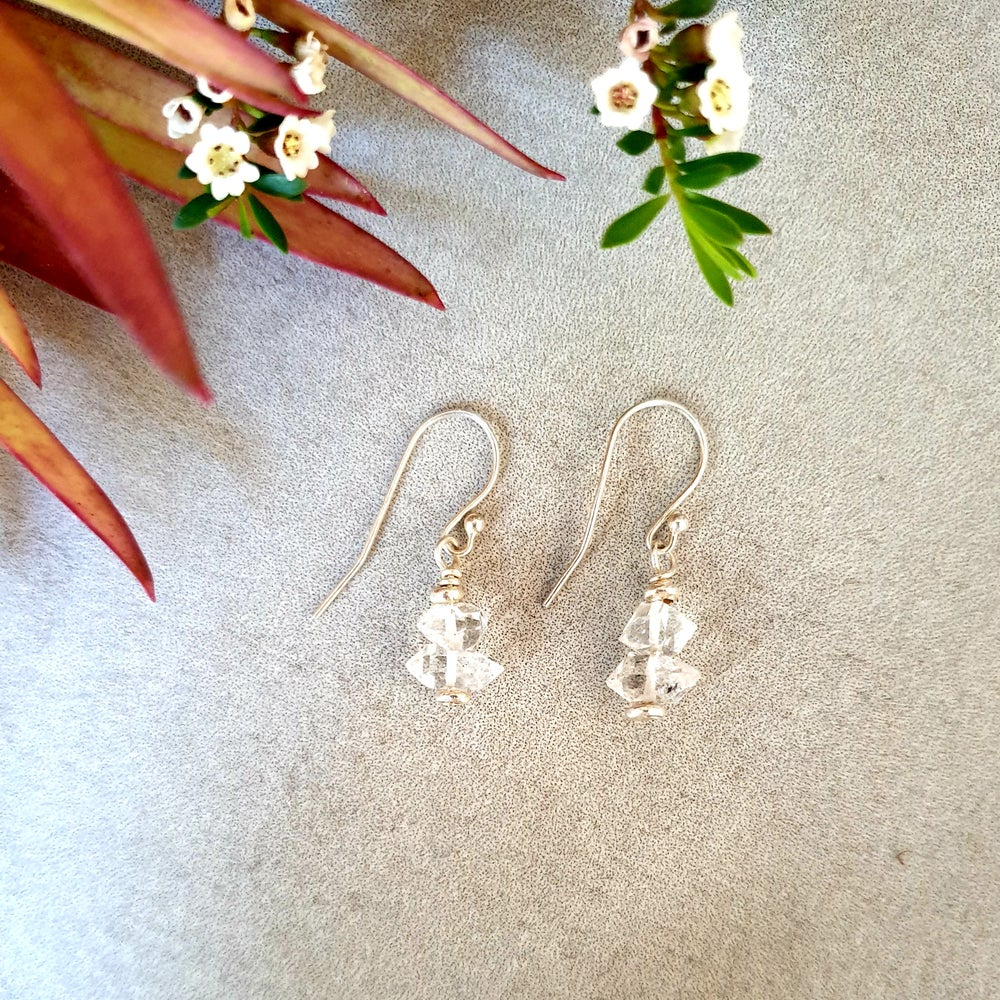 Image of HERKIMER DIAMOND French Hook Earrings