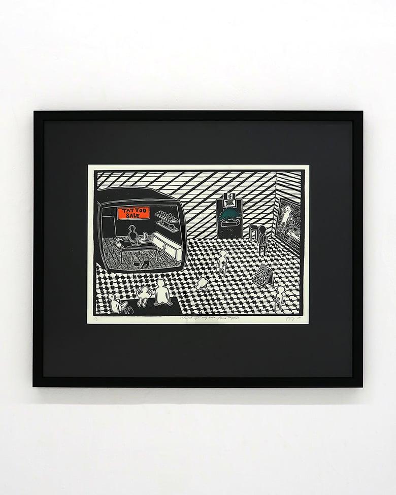 Image of Poppy Williams 'I showed you my butt please respond'. Original artwork 2020