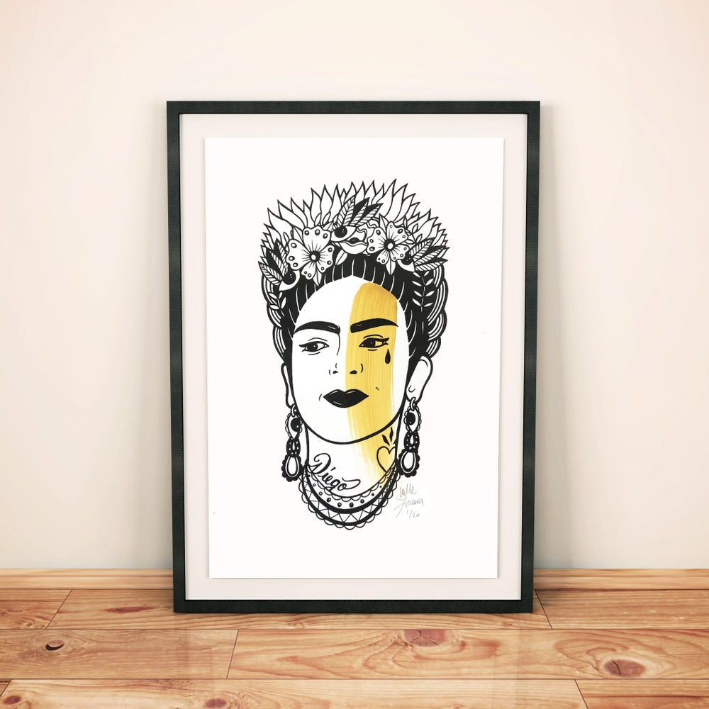 "Image of PRINT ""FRIDA"" A4"