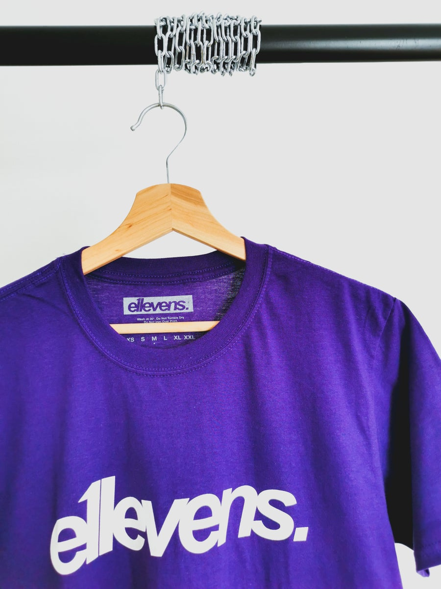 Image of NEW Purple OG white text t-shirt