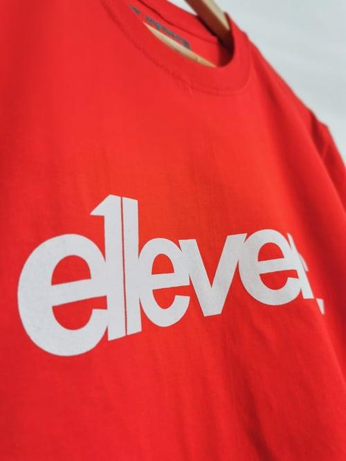 Image of E11evens Classic design - Red tee