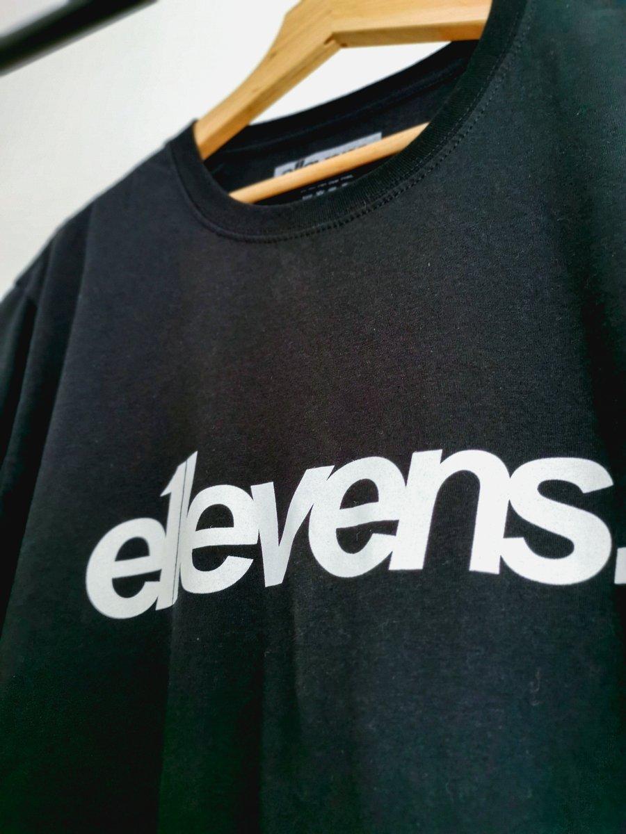 Image of E11evens Classic design - Black tee