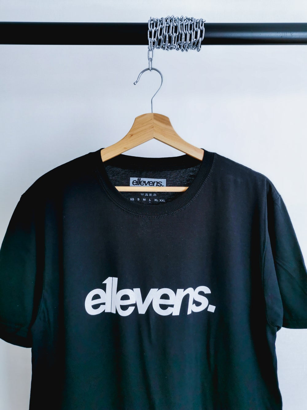 Image of E11evens Classic design - Black tee