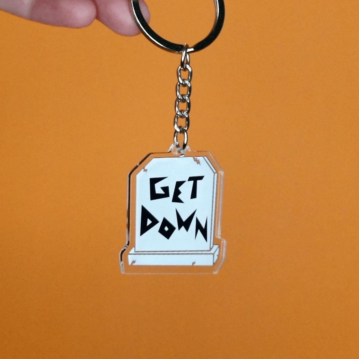 Get Down Acrylic Keychain