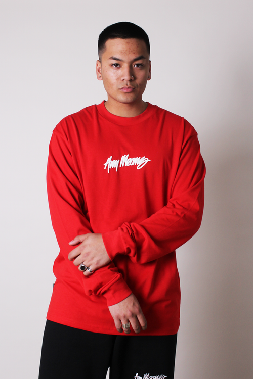 Image of Signature Longsleeve Tee in Red