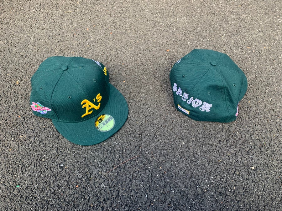 Image of The Savior x New Era OAKLAND + ALL GREEN Grey Brim 59fifty
