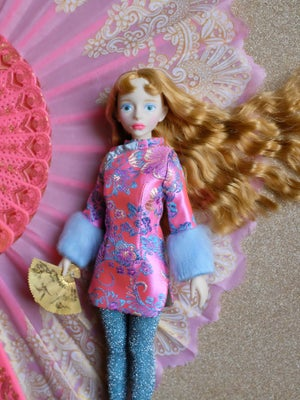 Image of Lounging Linda ~ Pink Cheongsam Mini Dress Set