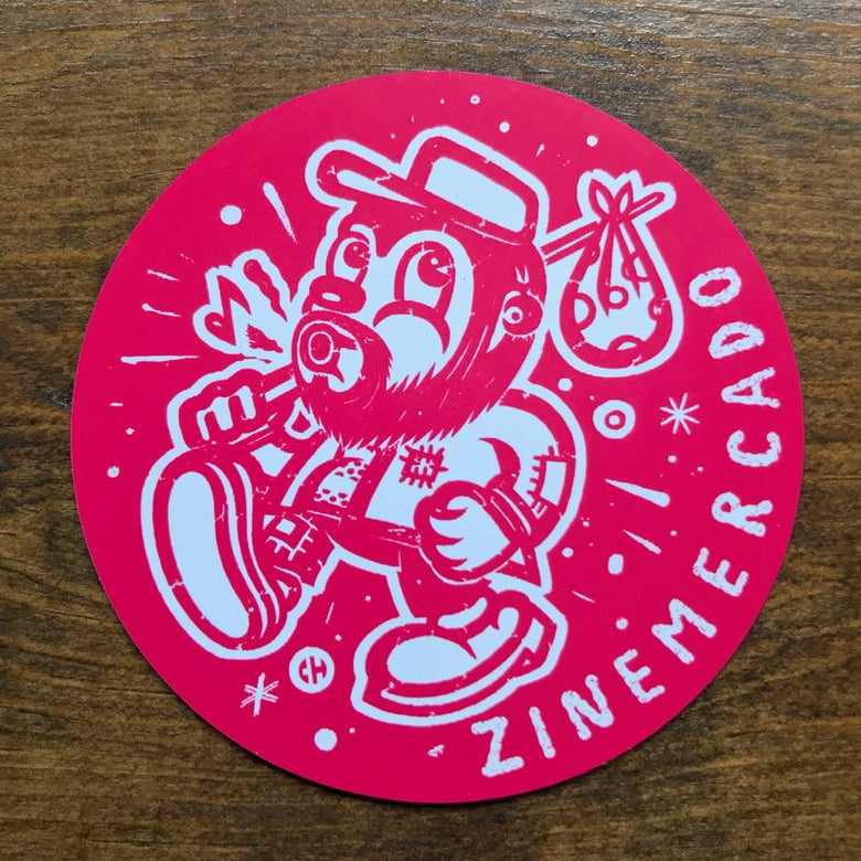 Image of ZINEmercado red magnet
