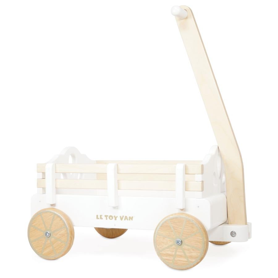 Image of Pull along Wooden Cart