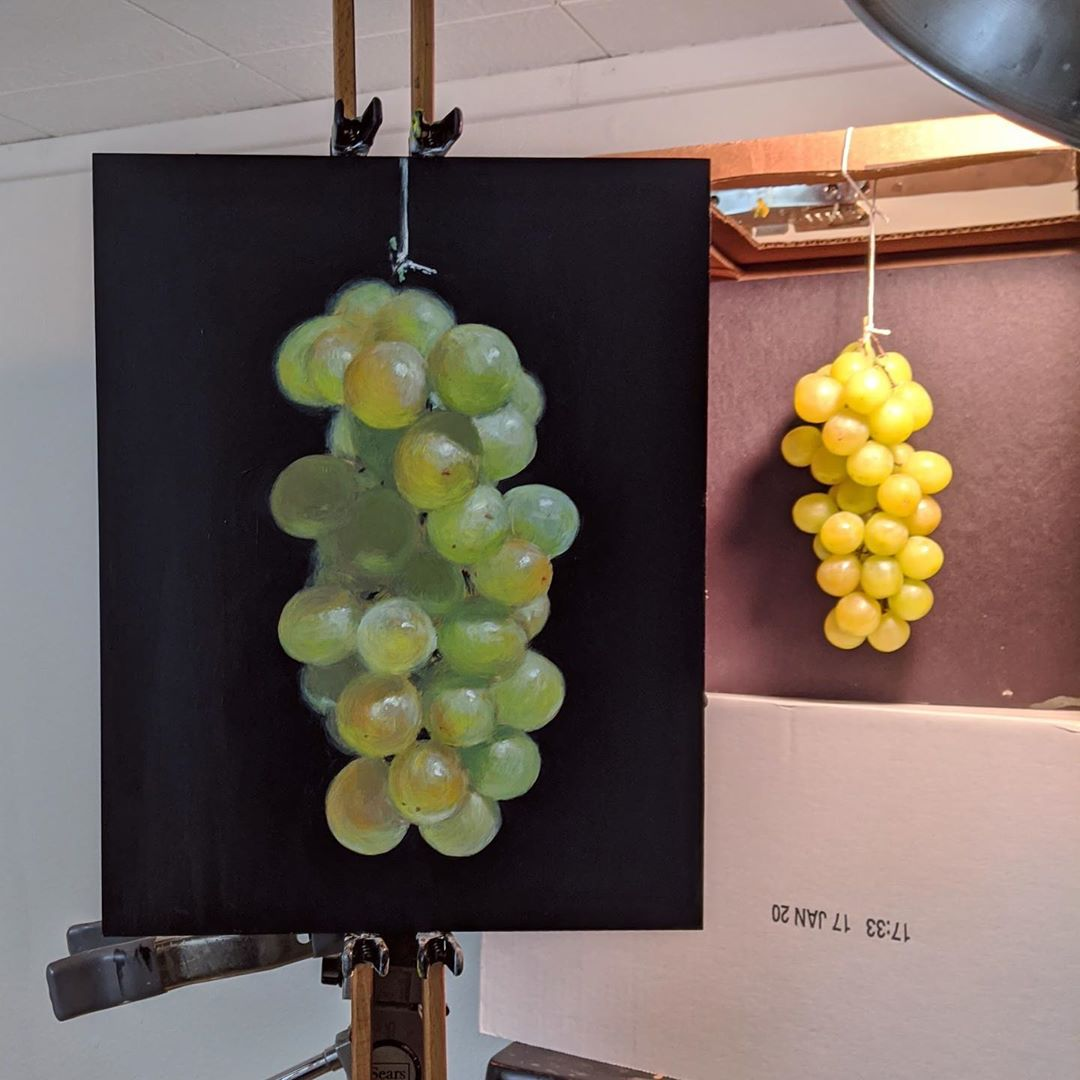 Image of Green Grapes, Suspended No. 4 (Original)