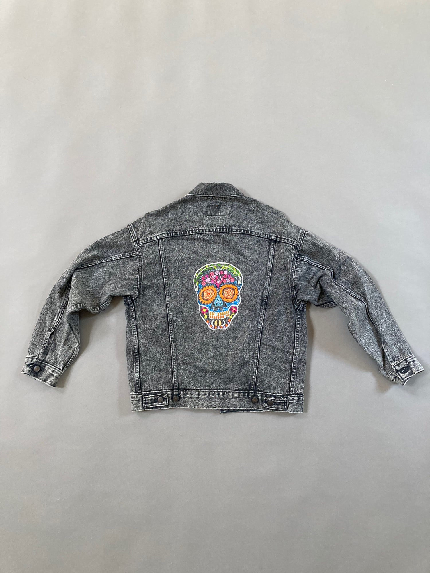 Image of Sugar Skull Jean Jacket