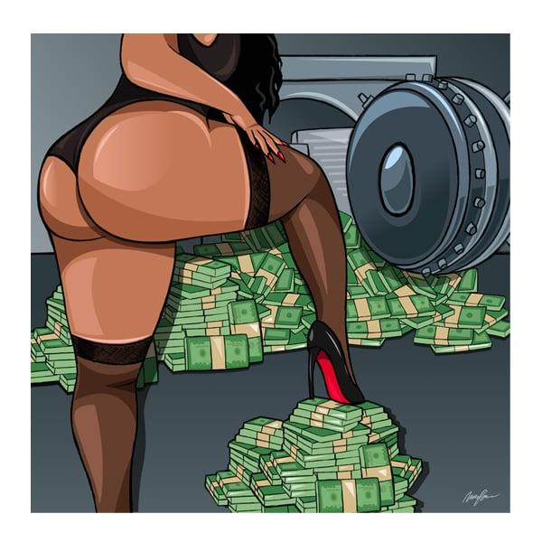 Image of Big Bank take Lil Bank (Print)