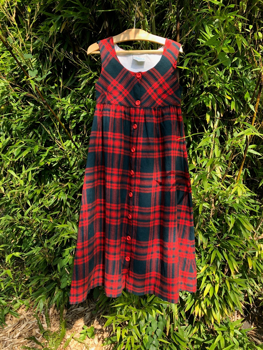 Image of Tartan maxi dress by Viyella. Age 4-6yrs.